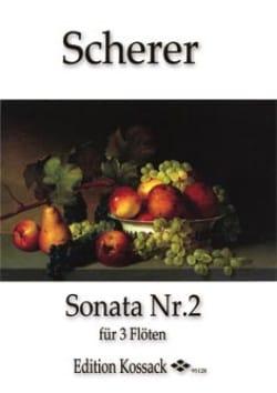 Johann Scherer - Sonate N°2 en Mi Mineur Pour 3 Flûtes - Partition - di-arezzo.fr