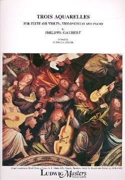 Philippe Gaubert - 3 Watercolors - Flute-Cello-Piano - Sheet Music - di-arezzo.com