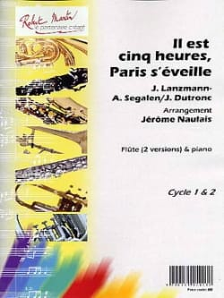 Jacques Dutronc - It's Five Hours, Paris Awakens - Flute and Piano - Sheet Music - di-arezzo.co.uk