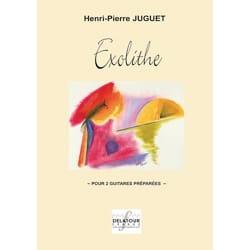 Henri-Pierre Juguet - Exolithe Pour 2 Guitares Préparées - Partition - di-arezzo.fr