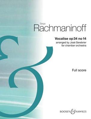 Vocalise Op.34 N°14 - RACHMANINOV - Partition - laflutedepan.com