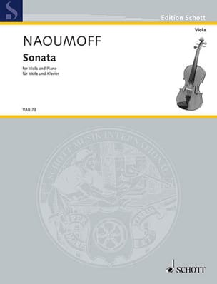 Emile Naoumoff - Sonate Pour Alto et Piano - Partition - di-arezzo.fr