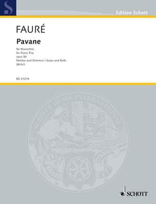 Gabriel Fauré - Pavane Op.50 - Trio With Piano - Sheet Music - di-arezzo.com
