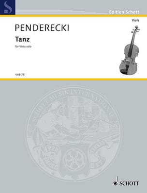 Krzysztof Penderecki - Tanz - Sheet Music - di-arezzo.co.uk