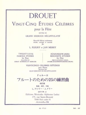 Louis Drouet - 25 Famous Studies - Flute - Sheet Music - di-arezzo.co.uk