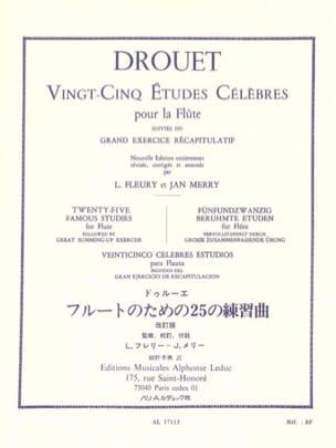 Louis Drouet - 25 Etudes célèbres – Flûte - Partition - di-arezzo.fr