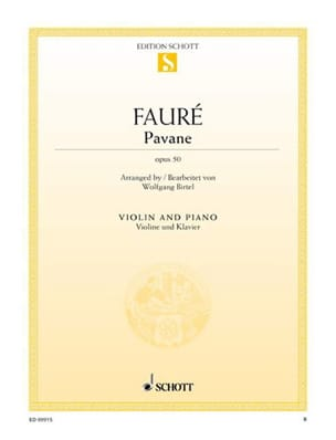 Gabriel Fauré - Pavane Op. 50 - Violin - Sheet Music - di-arezzo.co.uk