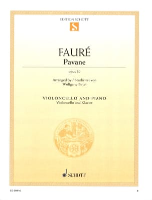 Gabriel Fauré - Pavane Op. 50 - Cello - Sheet Music - di-arezzo.co.uk