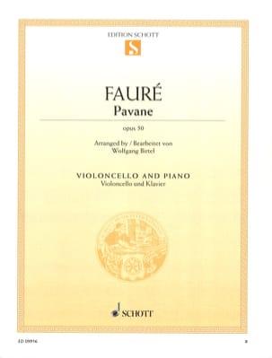 Pavane Op. 50 - Violoncelle FAURÉ Partition Violoncelle - laflutedepan