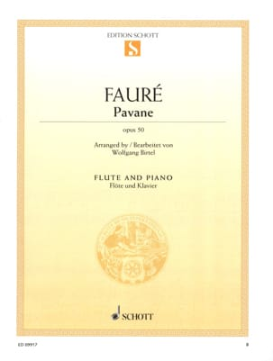 Pavane Op. 50 - Flute FAURÉ Partition Flûte traversière - laflutedepan