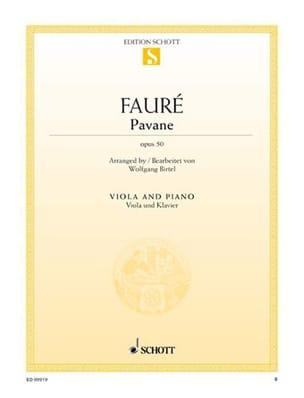 Pavane Op. 50 - Alto Gabriel Fauré Partition Alto - laflutedepan