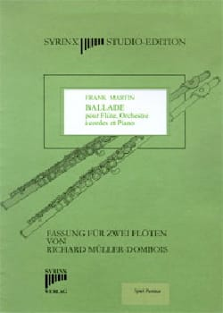 Frank Martin - Ballade - 2 Flûtes - Partition - di-arezzo.fr
