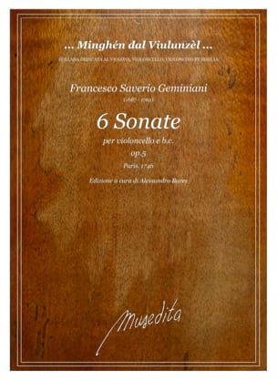 6 Sonate Opus 5 - Francesco Saverio Geminiani - laflutedepan.com