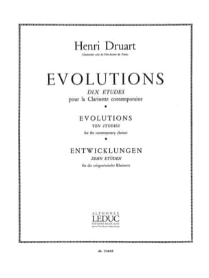 Henri Druart - Evolutions - Partition - di-arezzo.fr