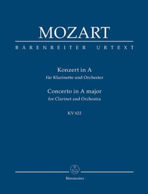 MOZART - Klarinettenkonzert A-Hard KV 622 - Partitur - Sheet Music - di-arezzo.co.uk