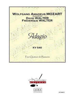 Adagio - KV 540 en Si Mineur - MOZART - Partition - laflutedepan.com