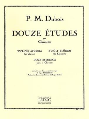 Pierre-Max Dubois - 12 Etudes - Clarinette - Partition - di-arezzo.fr
