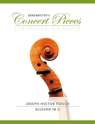 Joseph Hector Fiocco - Allegro in Sol - Sheet Music - di-arezzo.co.uk