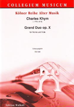 Charles Khym - Grand Duo Op.10 - Partition - di-arezzo.fr