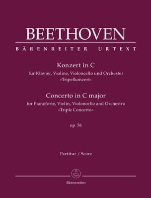 BEETHOVEN - Concerto in C Major for Piano, Violin, Cello and Orch., Op. 56 - Sheet Music - di-arezzo.co.uk