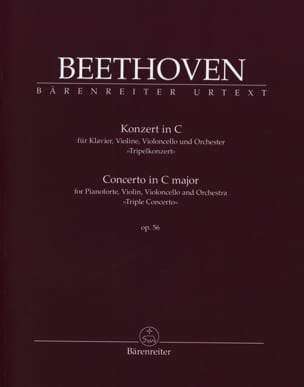 BEETHOVEN - Concerto in C Major for Piano, Violin and Cello and Orch. Op. 56 - Sheet Music - di-arezzo.co.uk
