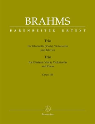BRAHMS - Trio for Clarinet, Cello and Piano Opus 114 - Sheet Music - di-arezzo.co.uk