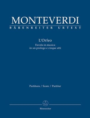 Claudio Monteverdi - The Orfeo, Opera - Sheet Music - di-arezzo.co.uk