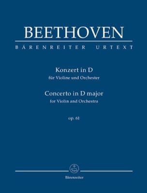 BEETHOVEN - Concerto in D Major for Violin and Orchestra Op. 61 - Sheet Music - di-arezzo.co.uk