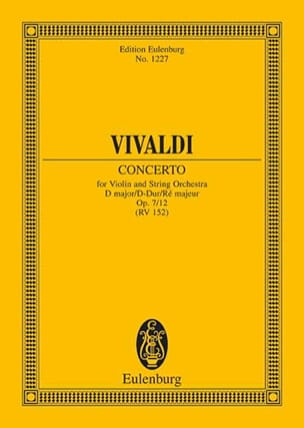 Antonio Vivaldi - Concerto D-Dur - Partition - di-arezzo.fr