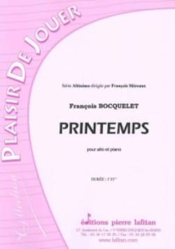 Printemps François Bocquelet Partition Alto - laflutedepan