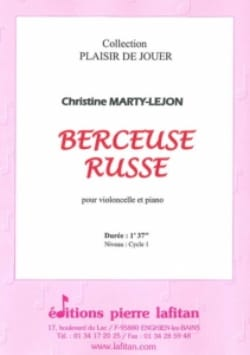 Berceuse Russe Christine Marty-Lejon Partition laflutedepan
