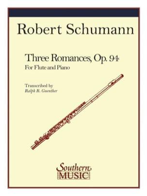 3 Romances SCHUMANN Partition Flûte traversière - laflutedepan