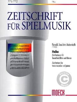 Haiku - Ronald Joachim Autenrieth - Partition - laflutedepan.com