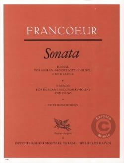 Sonate en Ré Mineur François Francoeur Partition laflutedepan