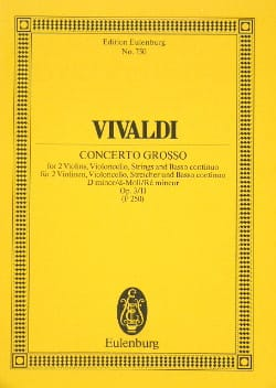 VIVALDI - Concerto in D Minor - Partition - di-arezzo.com