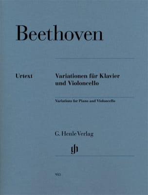 BEETHOVEN - Variations For Cello And Piano - Sheet Music - di-arezzo.com