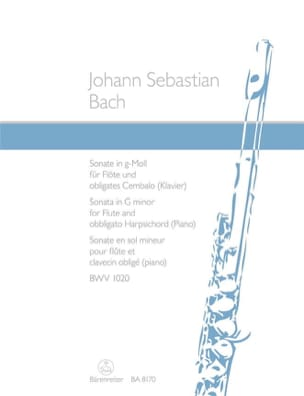 BACH - BWV 1020 Minor Sonata Sonata - Sheet Music - di-arezzo.com