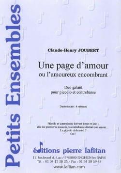 Claude-Henry Joubert - Une Page d'Amour ou l'Amoureux encombrant - Partition - di-arezzo.fr