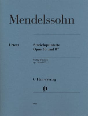 MENDELSSOHN - Opus String Quintets 18 and 87 - Sheet Music - di-arezzo.com