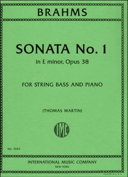 Sonate N°1 Op.38 en Mi Mineur BRAHMS Partition laflutedepan
