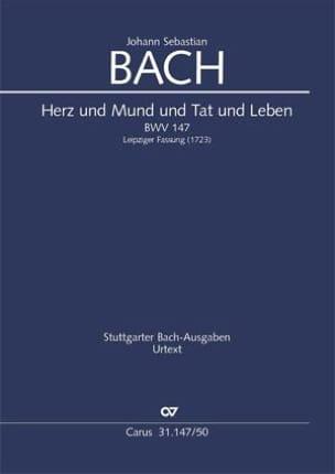 Johann Sebastian Bach - Cantate Herz und Mund und Tat und Leben - Partition - di-arezzo.fr