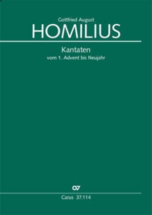 Gottfried August Homilius - cantatas - Sheet Music - di-arezzo.com