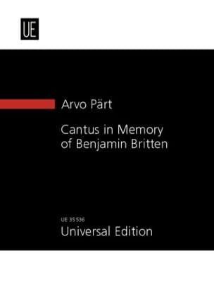Cantus in Memory of Benjamin Britten 1980 - laflutedepan.com