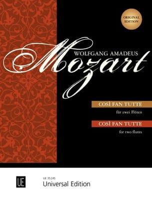 Wolfgang Amadeus Mozart - Cosi Fan Tutte Pour Deux Flûtes - Partition - di-arezzo.fr
