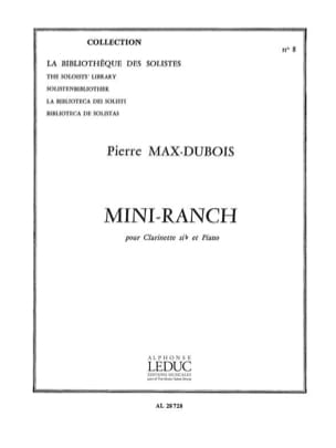 Mini-ranch Pierre-Max Dubois Partition Clarinette - laflutedepan