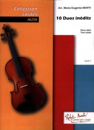 10 Duos Inédits Maria-Eugenia Maffi Partition Alto - laflutedepan