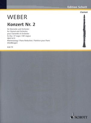 Carl Maria von Weber - Concerto N° 2 en Mib Majeur Opus 74 - Partition - di-arezzo.fr