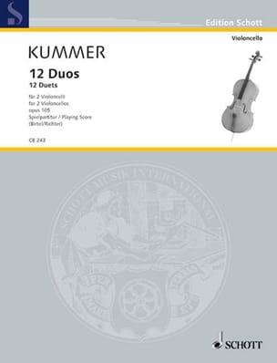 Friedrich-August Kummer - 12デュオスOp.105 - 楽譜 - di-arezzo.jp