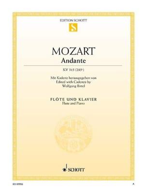 MOZART - Andante in Ut, Kv 315 - Partitura - di-arezzo.it