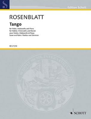 Alexander Rosenblatt - Tango - Partition - di-arezzo.fr